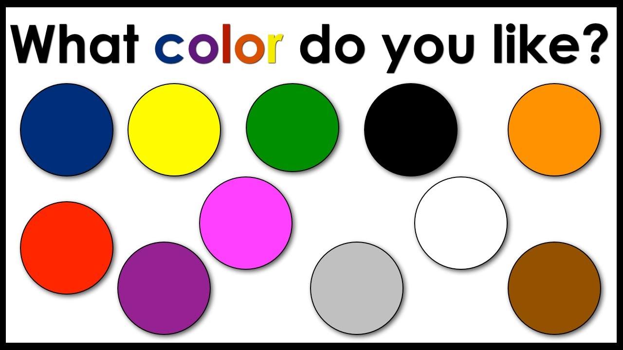 cours anglais enfants les couleurs